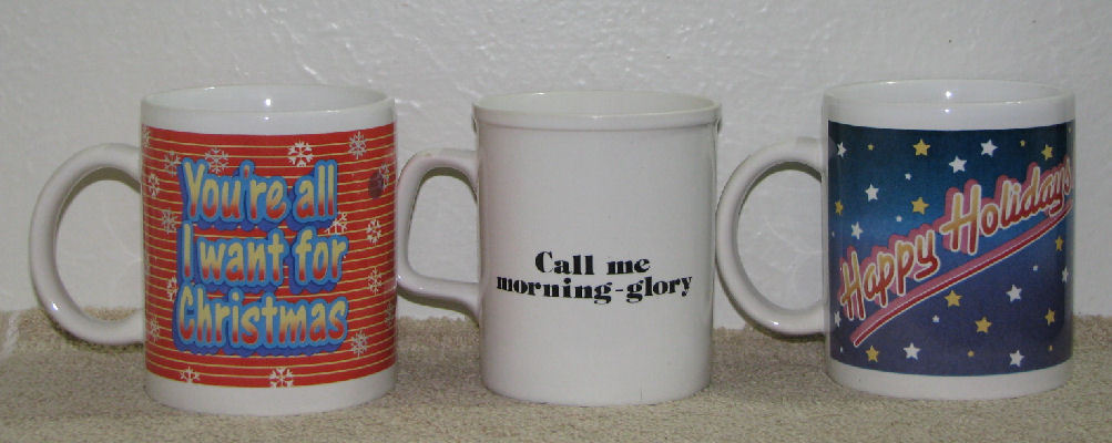 Lot of 3 Garfield the Cat Coffee Cups Mugs