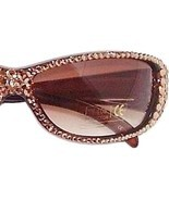 Sunglasses Light Golden Topaz Austrian Crystal Brown Lens Women's - $37.99