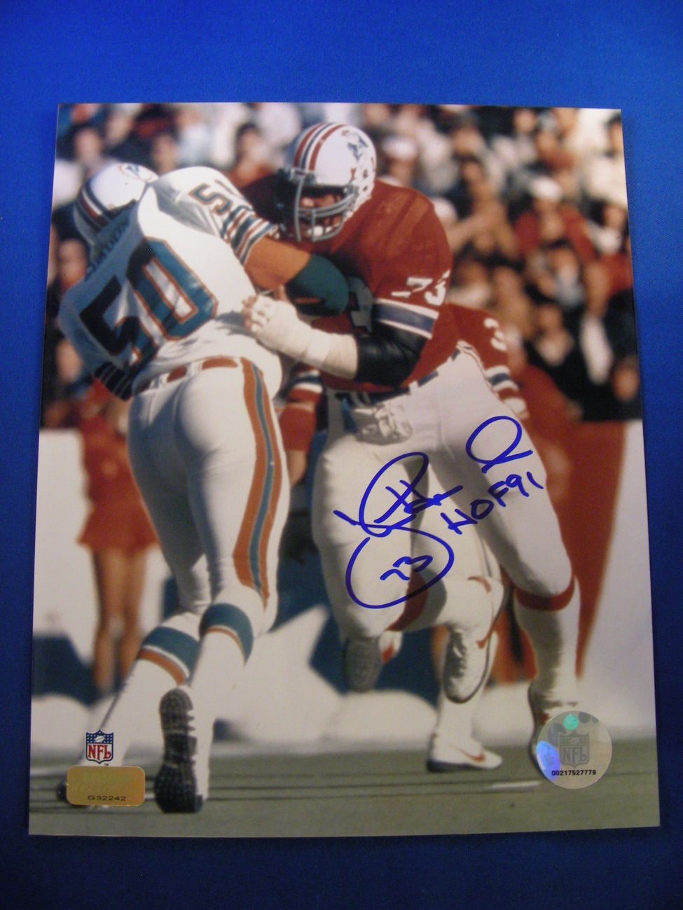 Primary image for JOHN HANNAH PRO FB HOF OG 70-80'S ALL-DECADE AUTO SIGNED 8X10 GRIDIRON AUTHENTIC