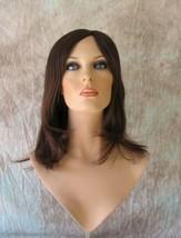 Aster 4/6/33 Nalee Dark Brown Auburn Mix Long Wig Monofilament Top Thin ... - $211.80