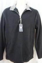 Club Room Mens Sweater Sz XL Deep Black Combo Classic Fleece Half Zip Ca... - €21,64 EUR