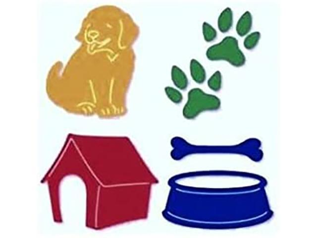 Sizzix Sizzlits Dog Set Dies, Set of 4 #38-9618
