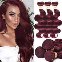 UHair 8A Brazilian Virgin Hair Body Wave 3 Bundles Unprocessed Human Hai... - $58.16