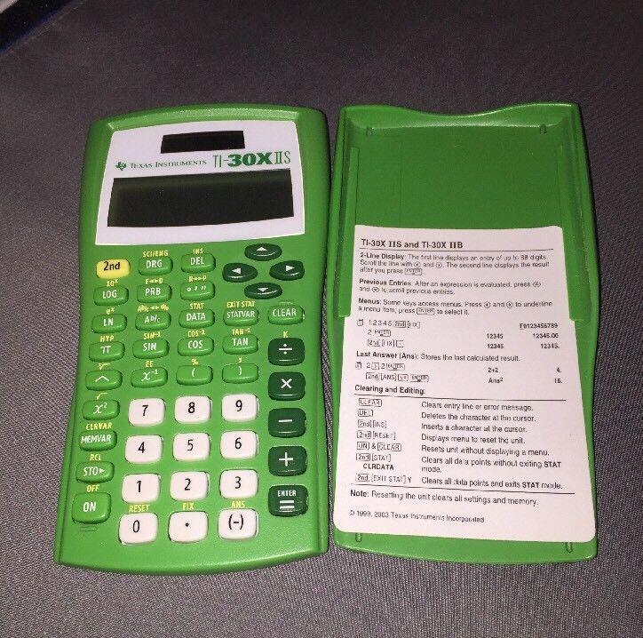 Texas Instruments Ti 30x Iis Scientific And 50 Similar Items
