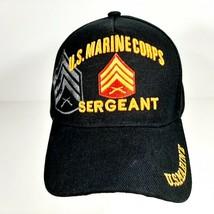 US Marine Corps Sergeant Men's Hat Ball Cap One Size Black Acrylic - $12.37