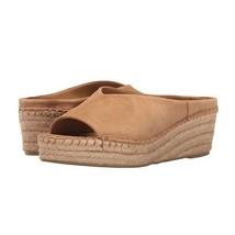 FRANCO SARTO Espadrille SlipOn Platform Wedge Sandals Tan Open Toe Womens size 7 - $44.54