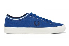 Fred Perry Men's Kendrick Tipped Cuff Canvas Shoes Grey Trainers B5210-955 - $64.79