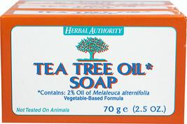 TEA TREE OIL BODY HAND 100% NATURAL Melaleuca ANTIFUNGAL HERBAL PURE SOAP 7 BARS image 2
