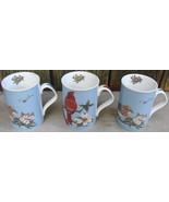 Inhesion GARDEN BIRDS Ceramic Porcelain Mugs (3) Maria Ryan - $35.00