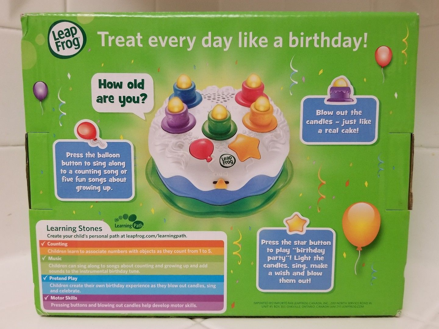 Leap Frog Counting Candles Birthday Cake 12 And 50 Similar Items