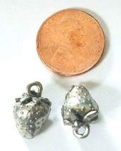 Strawberry Fine Pewter Cast Pendant Charm image 2