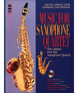 Music for Saxophone Quartet Music Minus One Soprano Saxophone - £11.78 GBP