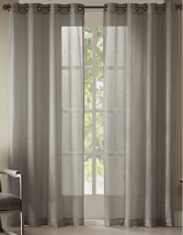 NEW Studio by JCP Home Pearl Metallic Grommet Curtain Panel Gray Mist 50... - $14.15