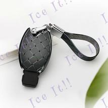 Key Protector Jacket Fob Keychain Metallic Woven Style Mercedes Benz (Grey) - €38,57 EUR