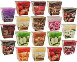 All2shop Scented Votive Candles Set of 18 Assorted Pure Scents for Relaxation &