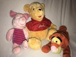 "Disney Store 14"" Piglet Disney World 14"" Winnie the Pooh Plush Doll 15"" ... - $34.99"