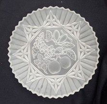 Vintage Federal Satin Glass Dinner Plate In Pio... - $8.00