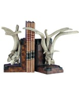 Bookends Bookend MOUNTAIN Rustic Antler Resin New - $319.00