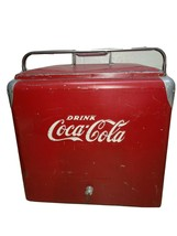 Antique Coca-Cola Metal Cooler Bottle Opener w/ Tray Progress Refrigerat... - $385.99