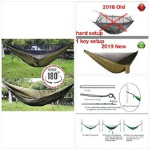 Camlinbo Camping Hammock Double Single with Trees Straps 118x78 inch Hol... - $63.71