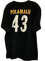 Reebok TROY POLAMALU #43 PITTSBURGH STEELERS Mens Sz XL T-Shirt Black - $29.00