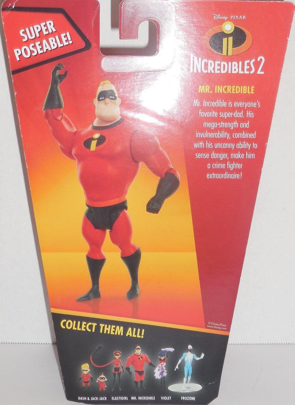 "Disney Pixar Incredibles 2 Movie Poseable Mr. Incredible Action Figure New 4"""