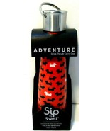 Sip S'well Insulated Water Bottle Savvy Scottie Dogs 15oz 450ml Red Drin... - $0.99
