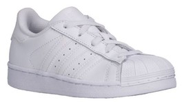 Adidas Superstar Mono White 088259 Leather Preschool KIDS Shoes - $44.99