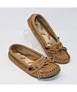 Minnetonka Size 7 M Classic Moccasin Shoes Tan Brown Women's Slip On Com... - $23.74