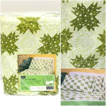 Vintage Sears Roebuck Perma Prest Muslin Full Flat Sheet Green 81x96 New... - $24.94