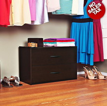 Shoe Cabinet Rack Storage Closet 2-Drawer Stackable Home Organizer Shelf... - $51.90