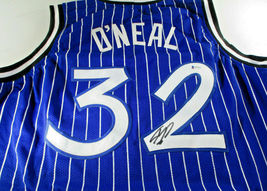 SHAQUILLE O'NEAL / AUTOGRAPHED ORLANDO MAGIC PINSTRIPED CUSTOM JERSEY / BECKETT image 1