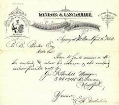 April 18, 1885 London & Lancashire Fire Insurance Company of Liverpool, ... - $16.00