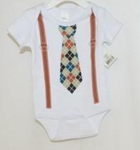 Ganz Ella Jackson Tie Suspenders Diaper Shirt Size 0 to 6 Months image 1