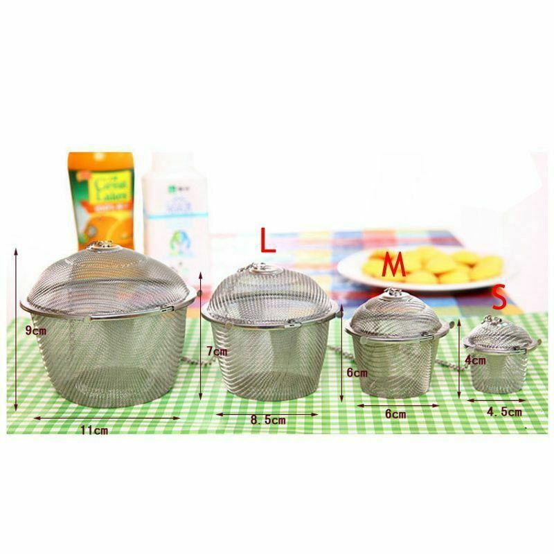 Arshen Tea Infusers Chained Lid Stainless Steel Mesh Ball Filter Strainer Tools image 4