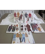 6 PC unisex SIZE XSM SM MED LARGE top short pants coat vest SEWING PATTERNS - $3.99