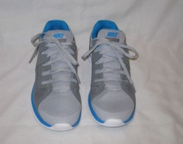 Great Mens Size 8.5 Luner Flash Fly Knit Running Shoes Gray Blue White - $95.61