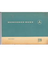 Vintage 1970 Mercedes-Benz 220/8  Owner's Manual - $25.00