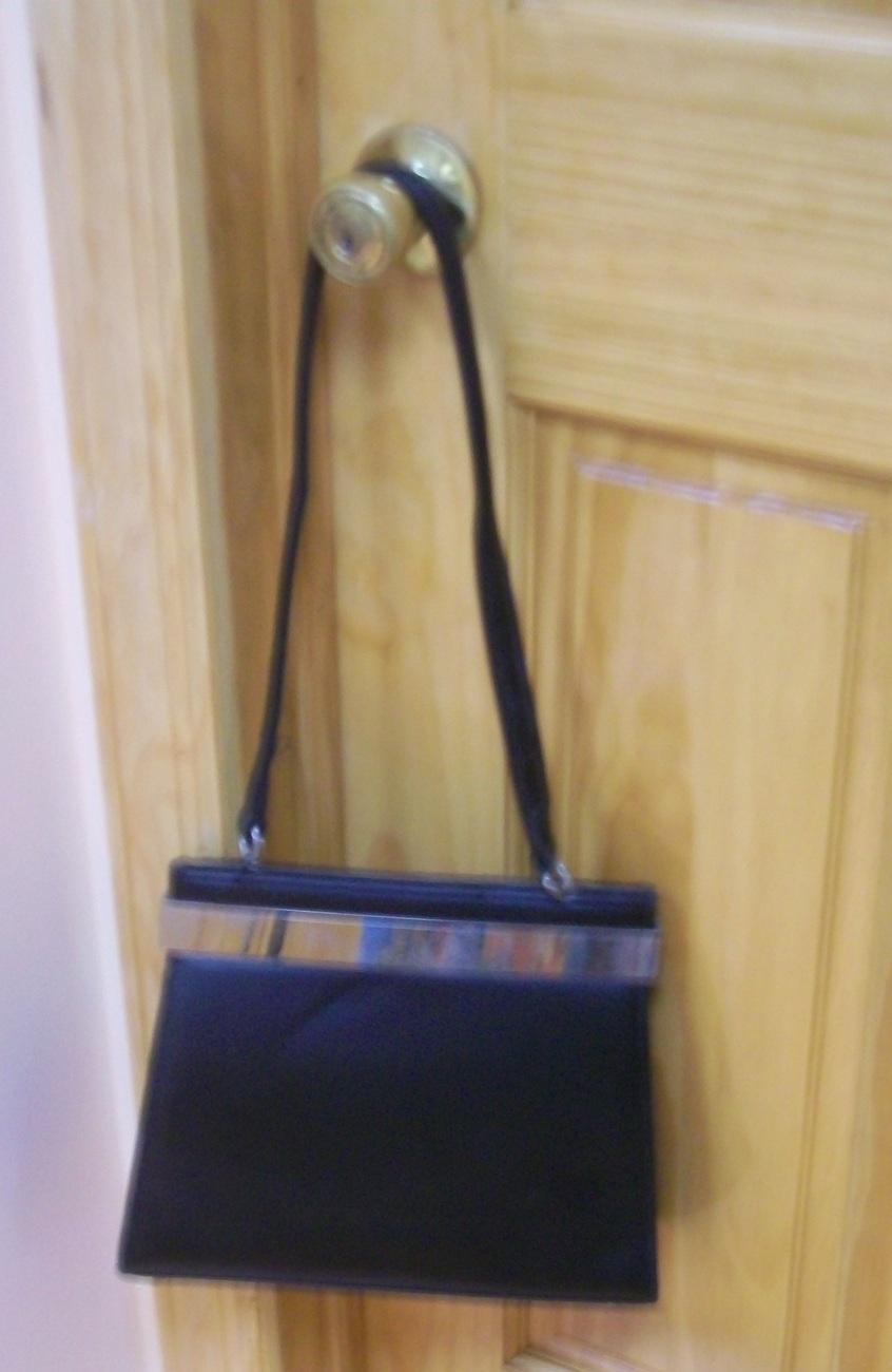 vintage fred's int'l black evening bag