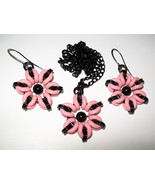 Punk Flower Necklace and/or Earrings - $12.00