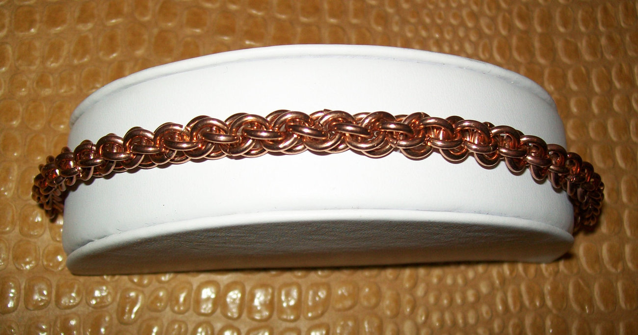 Copper JPL Chainmaille Bracelet