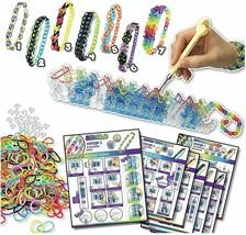 Colorful Bracelet Making Kit Craft Set Loom 1800 Rubber Bands Easy Instr... - $39.95