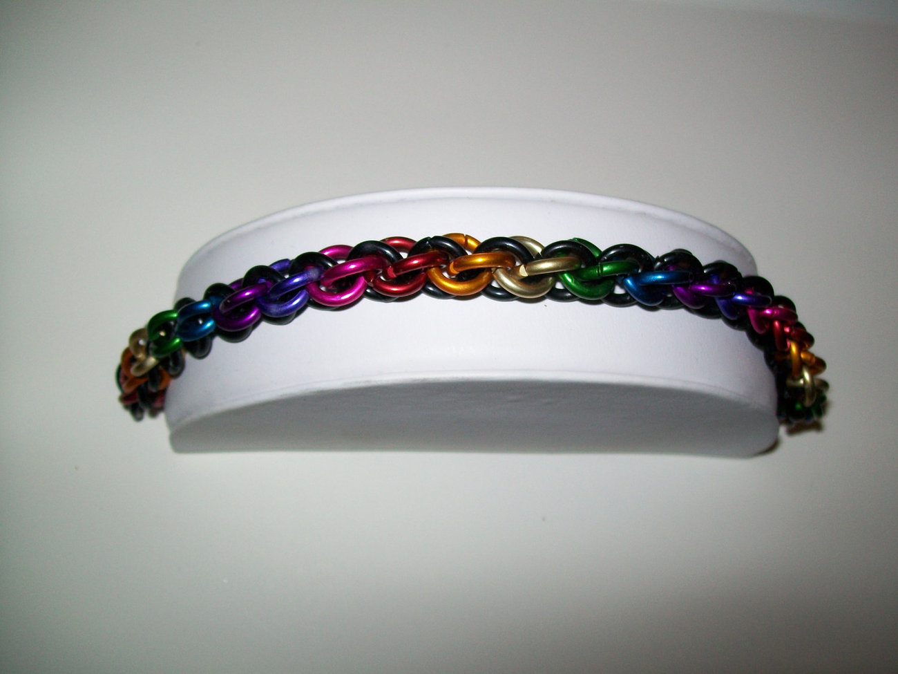 Black and Rainbow JPL Chainmaille Bracelet