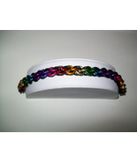 Black and Rainbow JPL Chainmaille Bracelet - $25.00