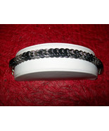 Blue Steel and Silver Tone Full Persian Chainmaille Bracelet - $20.00