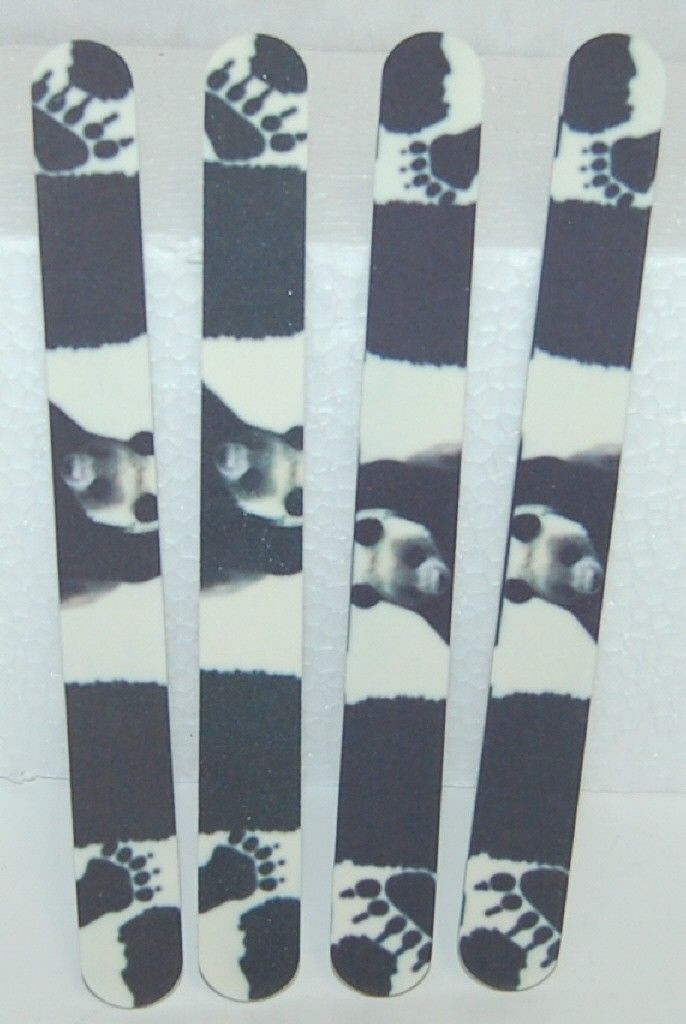 Flowery 707552 Panda Bear Designed Washable Nail Files Black White 4