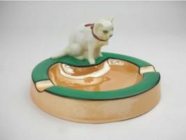 RARE Vintage Art Deco NORITAKE CAT ASHTRAY M-JAPAN - $1,187.99