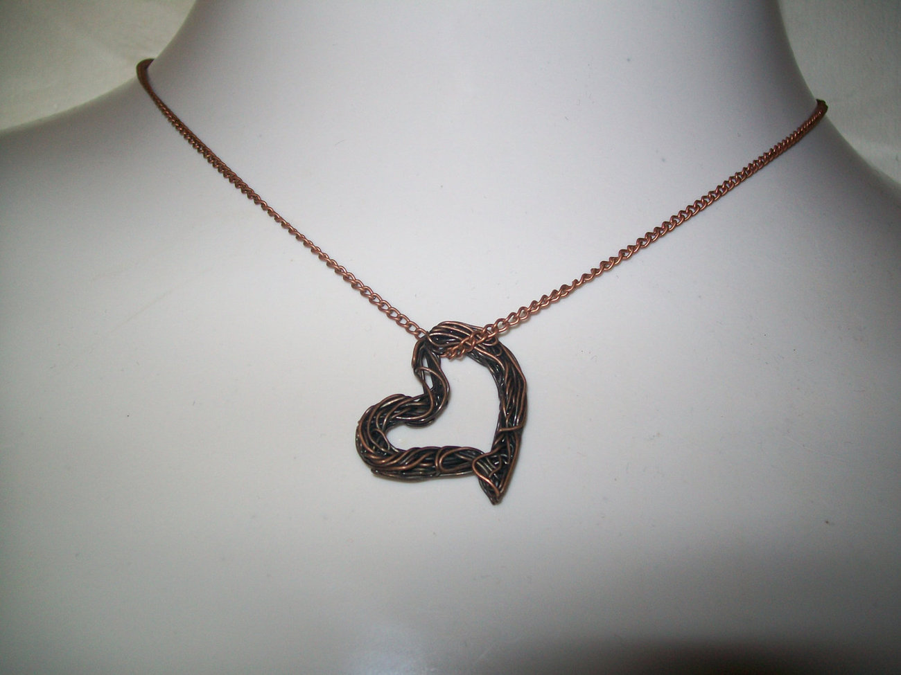 Copper Wire Heart Necklace