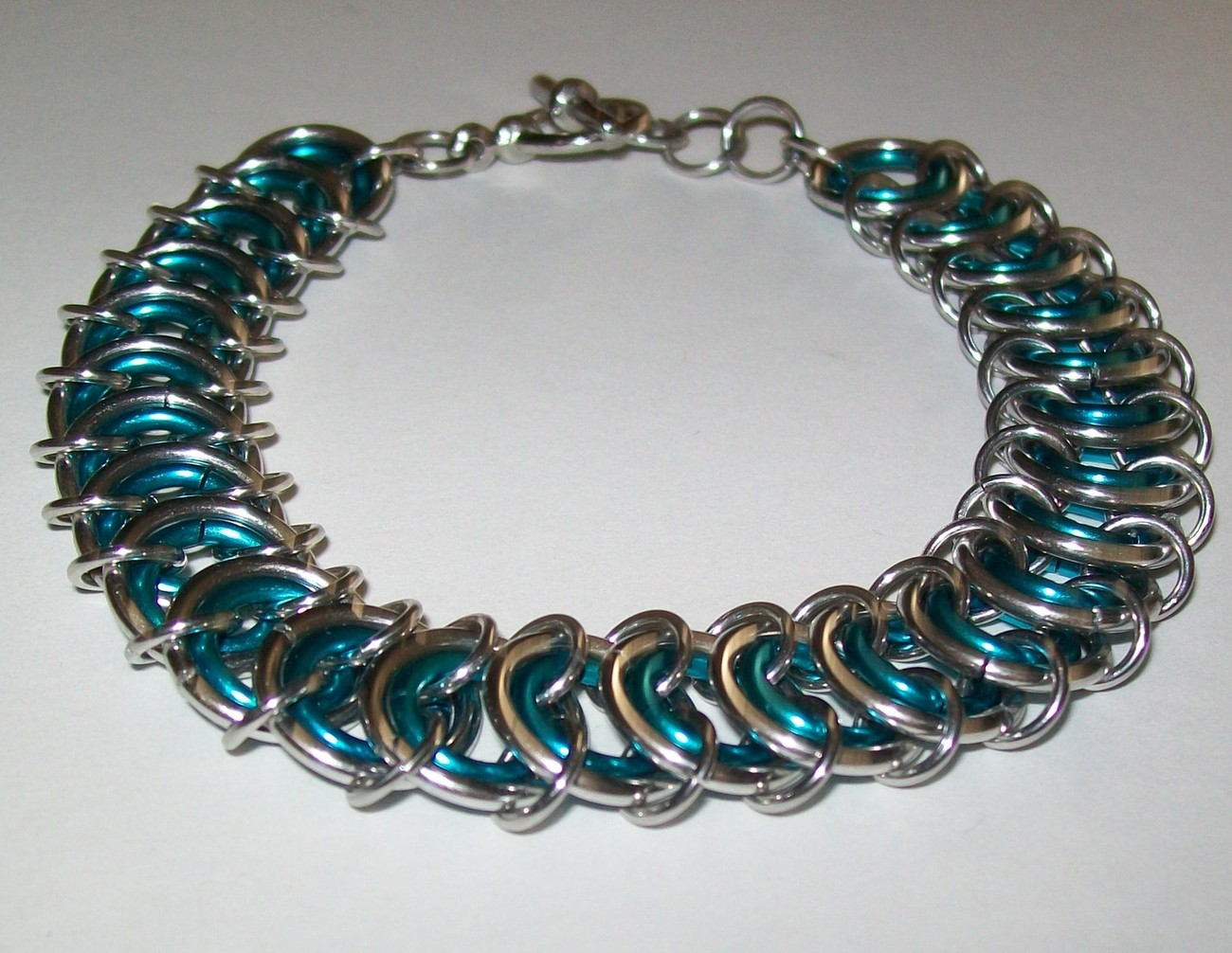 Nested Ladder Chainmaille Bracelet