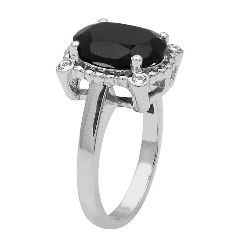 4.20 Ctw Black Spinel 925 Sterling Silver Ring Shine Jewelry Size-9 SHRI1456